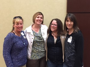 "Ohio contributors to ""The Adoptee Survival Guide:  l-r, Paige Strickland, Becky Drinnen, Lynn Grubb & Wendy Barkett"